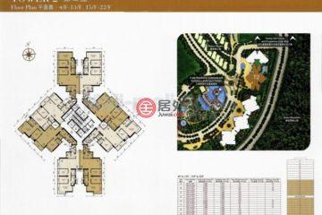 居外网在售中国澳门3卧2卫原装保留的房产总占地165平方米HKD 12,800,000