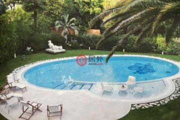 居外网在售意大利4卧6卫新房的独栋别墅总占地1670平方米