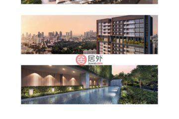居外网在售新加坡3卧2卫新开发的公寓总占地3863平方米SGD 3,128,000