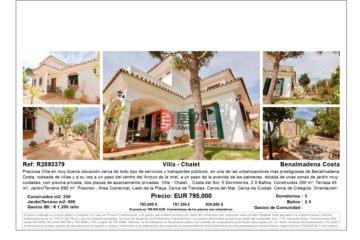 居外网在售西班牙Benalmádena5卧2卫的房产总占地690平方米EUR 795,000