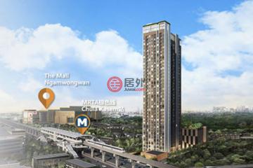 居外网在售泰国1卧1卫新房的房产总占地22平方米THB 2,000,000