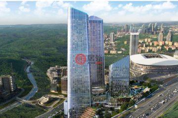 居外网在售土耳其Maslak1卧1卫的房产总占地95平方米TRY 1,700,000