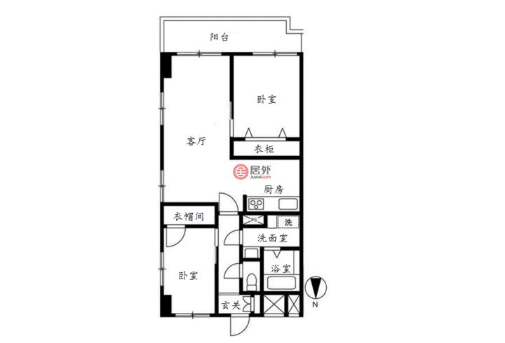日本TokyoTokyo的房产,墨田区吾妻桥3丁目,编号54946604