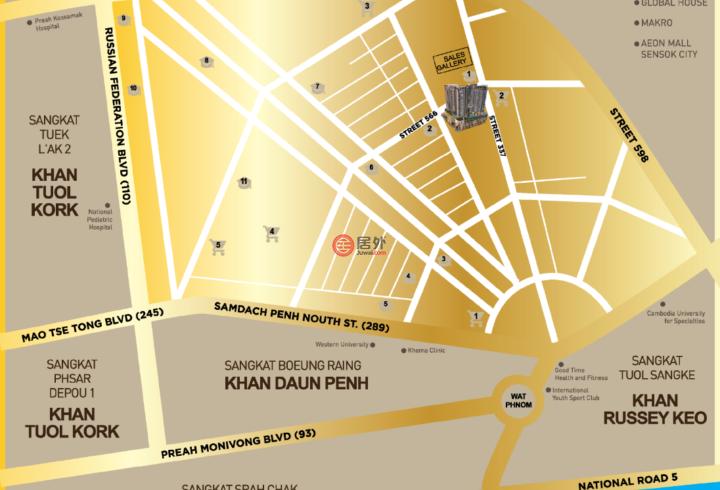 柬埔寨Phnom PenhPhnom Penh的公寓,59-20 Street 337,编号54963069