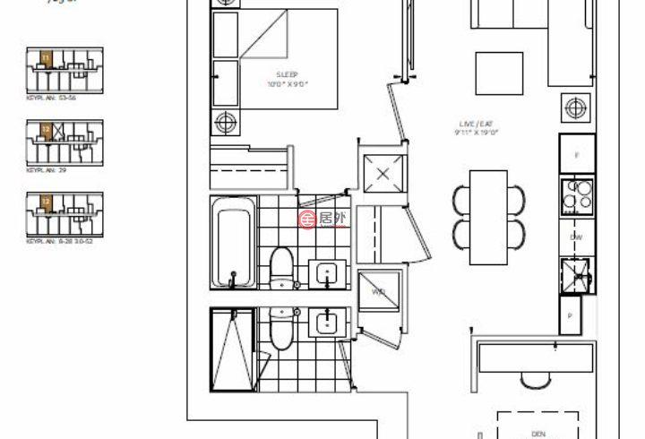 加拿大安大略省多伦多的房产,88 QUEEN CONDOS,编号54466134