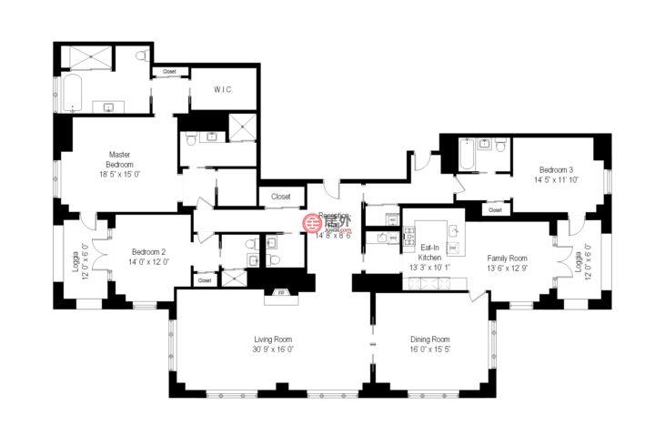 美国纽约州纽约的房产,30 Park Place,编号58509603
