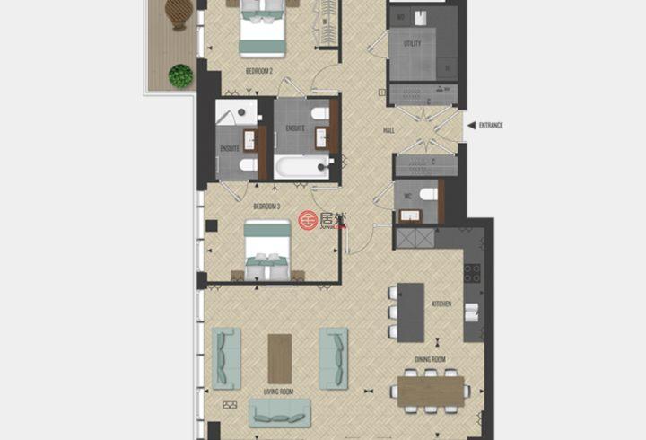 英国英格兰伦敦的房产,伦敦港,伦敦一区,编号34517993