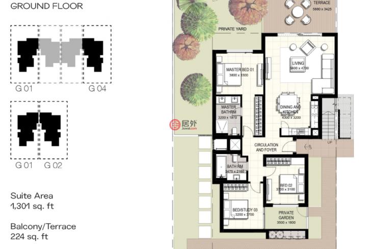 阿联酋迪拜迪拜的联排别墅,伊玛尔南区,编号54992758