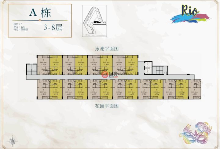 泰国春武里府芭堤雅的新建房产,SevenSeas Le Carnival, Universal Dream Developers Co.,Ltd, 391/34 Moo.12, Soi Wat Boon, Nongprue,编号50389647