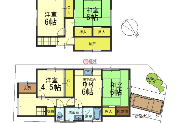 日本Kyoto Prefecture京都市的房产,山科区小山谷田町,编号55755033