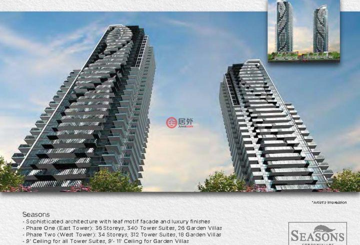 加拿大安大略省多伦多2卧2卫新开发的房产,编号28510