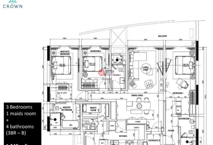 马来西亚沙巴亞庇的房产,Wawasan,编号52154360