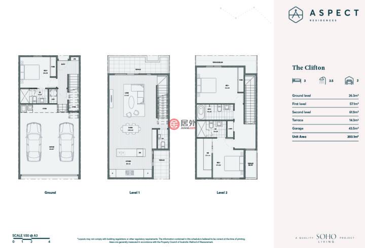 澳大利亚维多利亚州墨尔本的联排别墅,Keilor Downs,编号58475669