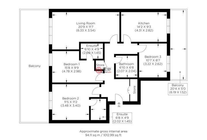 英国英格兰伦敦的公寓,Nicholson Square,编号59872369