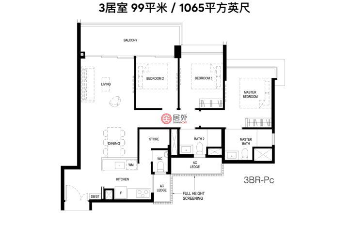 新加坡西南省新加坡的公寓,1 Normanton Park,编号59962277