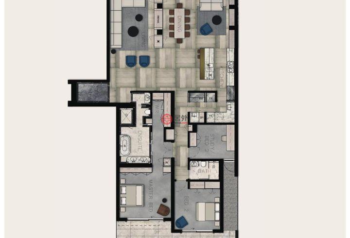 澳大利亚维多利亚州的房产,G02/86 Mathoura Road,编号35557907