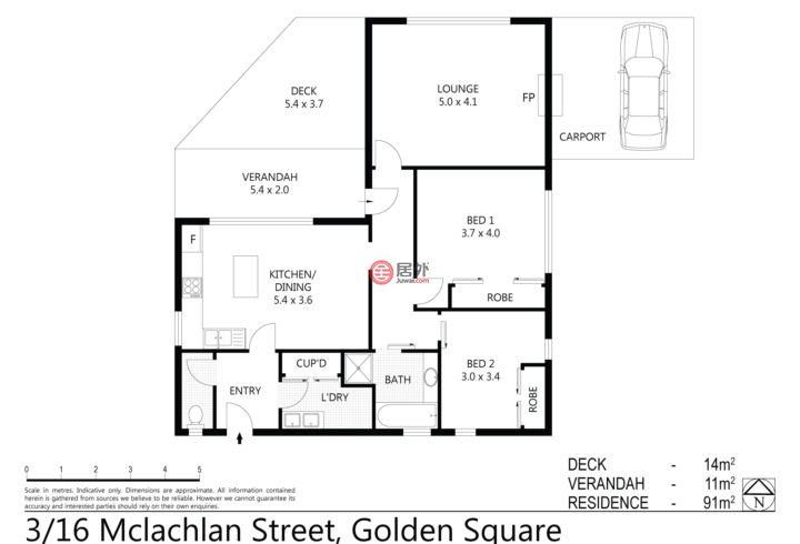 澳大利亚维多利亚州班迪哥的房产,3/16 McLachlan St,编号27725819